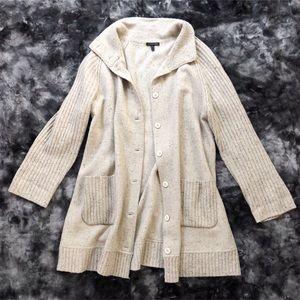 Eileen Fisher Oatmeal Cardigan Duster Sweater Coat
